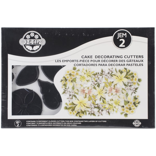 Plastic Cutter Set 75pc-Jem Two Set - Flowers