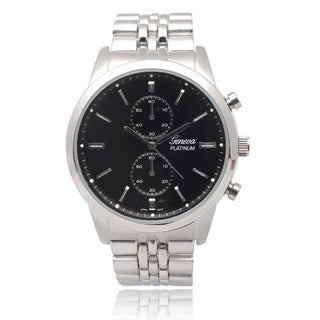 Geneva Platinum Men's Metallic Link Watch