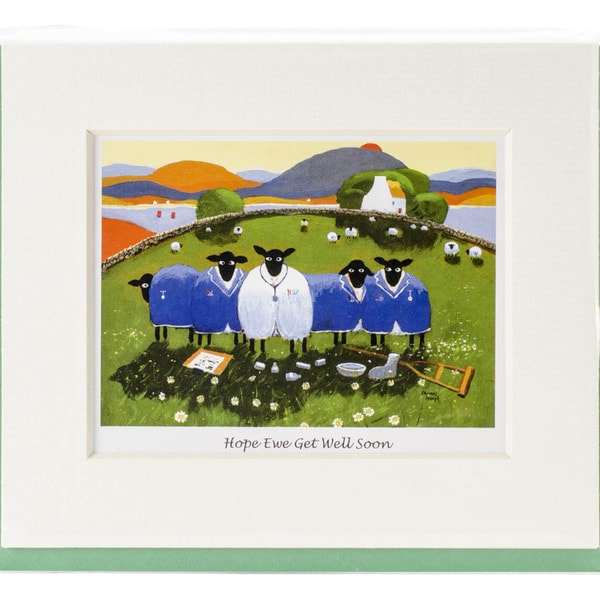 Mini Card-Hope Ewe Get Well Soon
