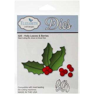 Elizabeth Craft Metal Die-Holly Leaves & Berries