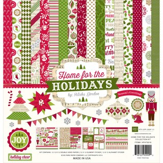 "Echo Park Collection Kit 12""X12""-Home For The Holidays"