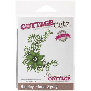 CottageCutz Elites Die -Holiday Floral Spray