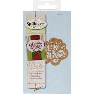 Spellbinders Shapeabilities Die D-Lites-Happy Holiday Sentiment