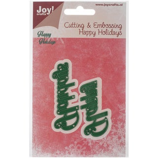 Joy! Crafts Cutting Die-Happy Holidays, Up To 2.25""