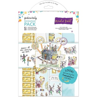 Roald Dahl A4 Decoupage Paper Pack 8/Pkg-Grobswitchy Chocolate