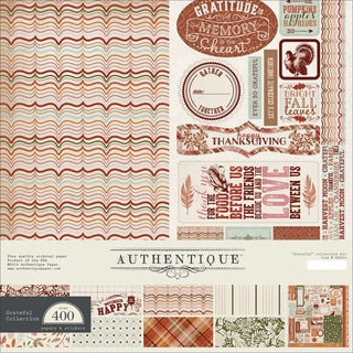 "Authentique Collection Kit 12""X12""-Grateful"
