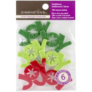 Feltworks Laser Cut Joy-Green, Lime & Red 6/Pkg
