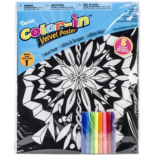 """Color-In Velvet Poster Art Set 16""""X20""""-Geometric"""