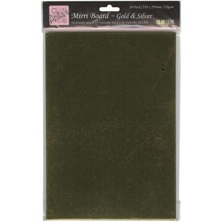 Anita's 210gsm Mirri Board A4 20/Pkg-Gold & Silver