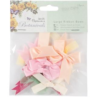 "Papermania Botanicals Large Ribbon Bows 12/Pkg-1.75"" To 2"""