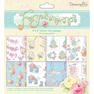 ForgetMeNot Decoupage Pad 8inX8in