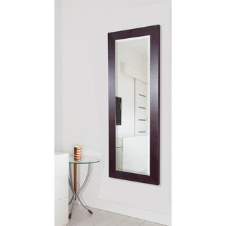 American Made Rayne Brown Leather 26.5 x 64.5-inch Full Body Mirror