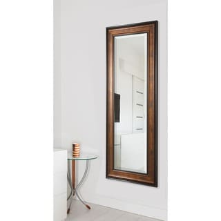 American Made Rayne Wooden Bronze 29.5 x 67.5-inch Full Body Mirror