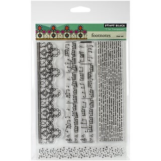 """Penny Black Clear Stamps 5""""X6.5"""" Sheet-Footnotes"""