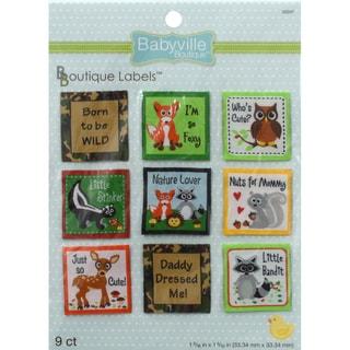 Babyville Boutique Labels 9/Pkg-Forest Friends
