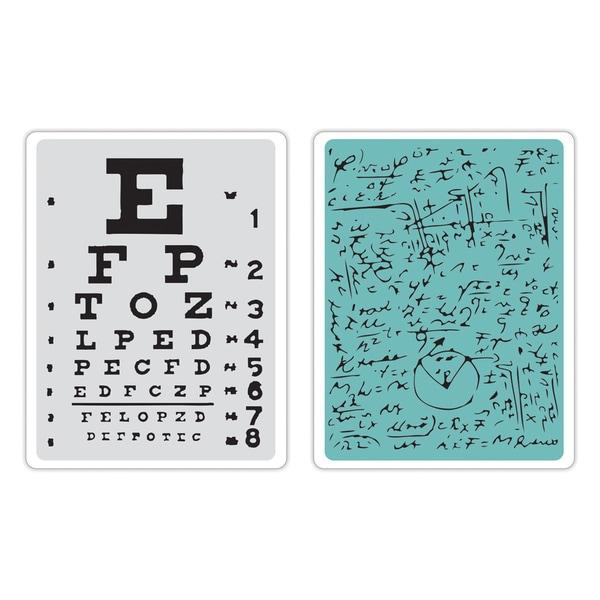 Sizzix Texture Fades A2 Embossing Folders 2/Pkg-Eye Chart & Formulas