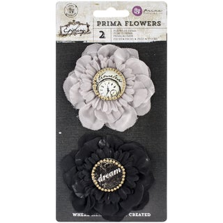 "Epiphany Flowers-Fabric Realization 3.5"", 2/Pkg"
