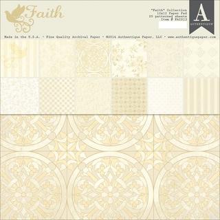 """Authentique Double-Sided Paper Pad 12""""X12"""" 20/Pkg-Faith"""