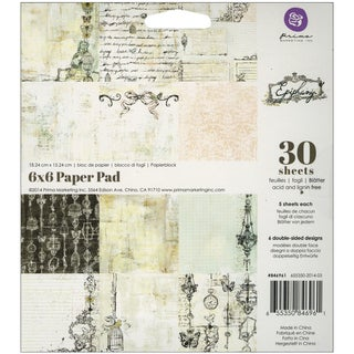 "Prima Marketing Paper Pad 6""X6"" 30/Pkg-Epiphany"