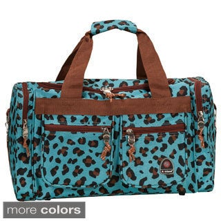Rockland Leopard 18-inch Carry-on Shoulder Duffel Tote Bag