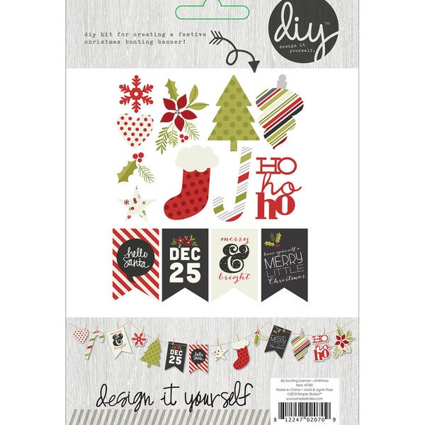 DIY Christmas Bunting Banner Kit