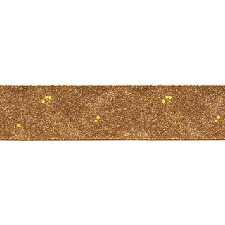 "Glitterie Ribbon 1-1/2""X9'-Copper"
