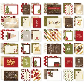 """Sn@p! Double-Sided Cards 4""""X6""""-Cozy Christmas"""