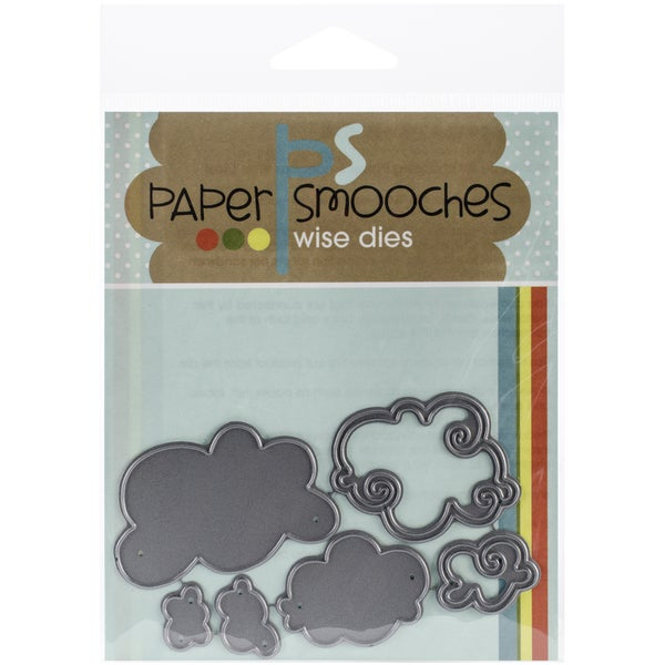 Paper Smooches Die-Clouds