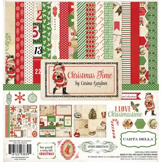 "Carta Bella Collection Kit 12""X12""-Christmas Time"