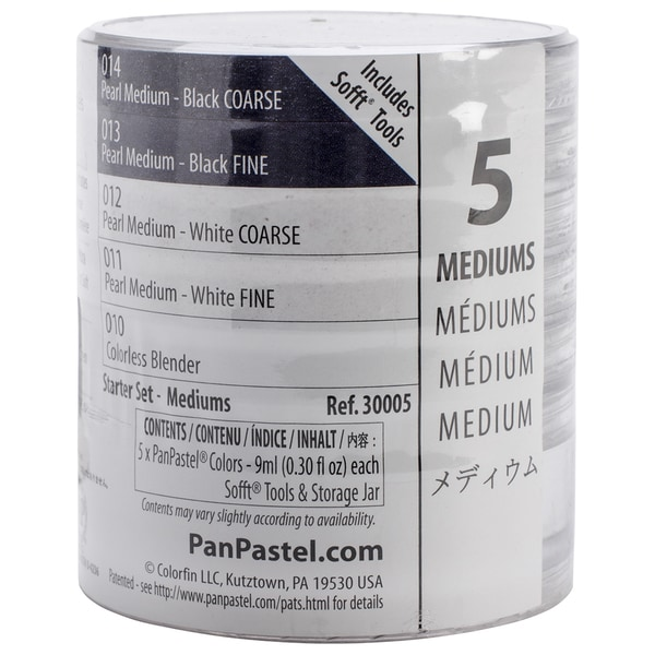PanPastel Mediums Artist Pastels Set 9ml 5/Pkg