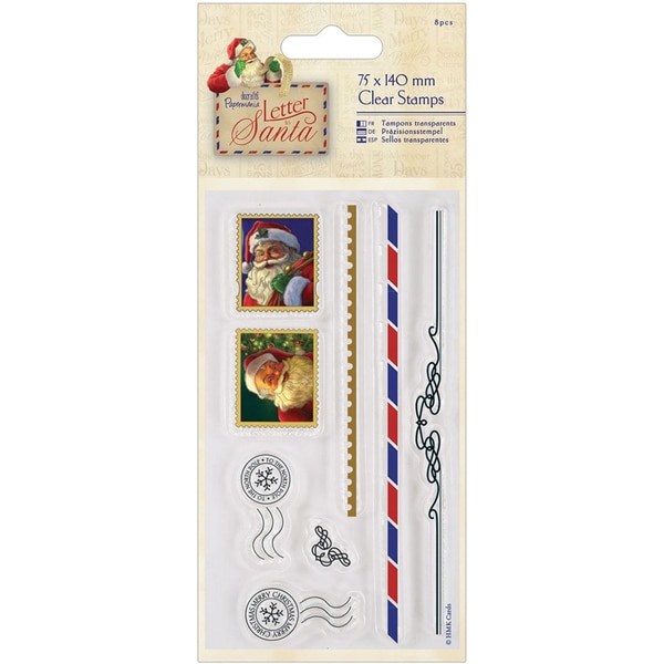 Papermania Letter To Santa Clear Stamps 3inX5.5in