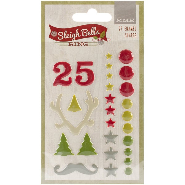 Sleigh Bells Ring Enamel Shapes 27/Pkg
