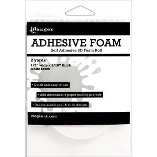 Ranger Adhesive White Foam Roll 1/2inX1/16inX2yd