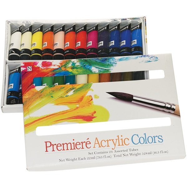 Premiere Acrylic Paint Set-22ml 24/Pkg