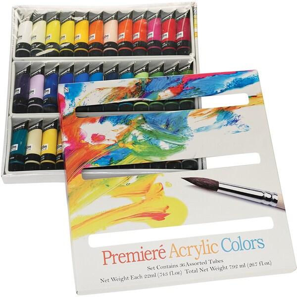 Premiere Acrylic Paint Set-22 Ml 36/Pkg