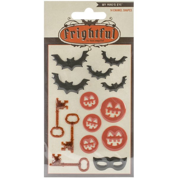 Frightful Enamel Shapes 14/Pkg