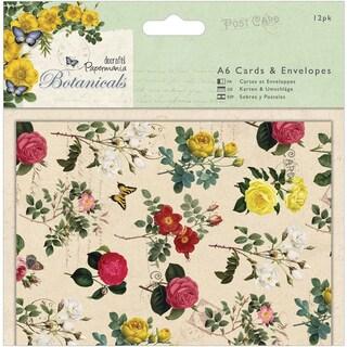 Papermania Botanicals Cards/Envelopes A6 12/Pkg