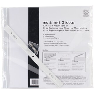 "Me & My Big Ideas Page Protectors 12""X12"" 10/Pkg-(1) 12""X12"" Pocket"