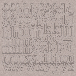 """Chipboard Alphabet 12""""X12""""-1"""" Lowercase Letters"""