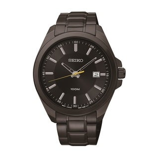 Seiko Men's SUR073 Stainless Steel Black Ion Finish Watch