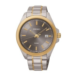 Seiko Men's SUR074 Stainless Steel Two Tone Watch