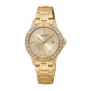 Seiko Women's SUR874 Stainless Steel and Swarovski Crystal Watch