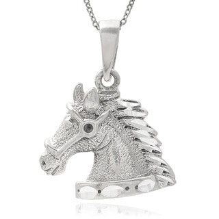 Journee Collection Sterling Silver Horse Head Pendant