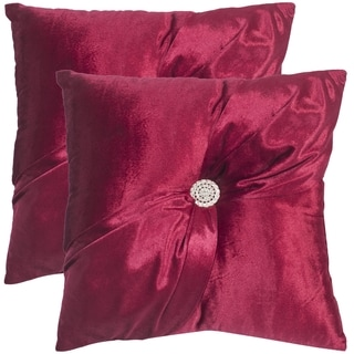 Safavieh Posh Holiday Red 16 x 16-inch Square Throw Pillows (Set of 2)