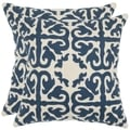 Safavieh Morrocan Navy Blue 22-inch Square Throw Pillows (Set of 2)