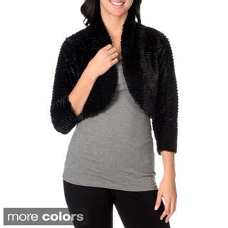 Amanda Charles 3/4 Sleeve Open Front Bolero Jacket