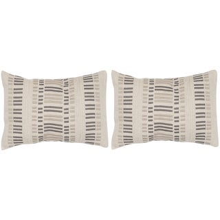 Safavieh Linea Taupe Granite 12 x 20-inch Throw Pillows (Set of 2)