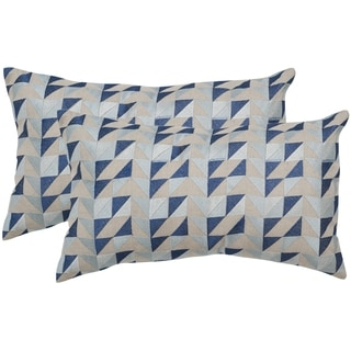 Safavieh Nautical Geo Blue Mirage 12 x 20-inch Throw Pillows (Set of 2)