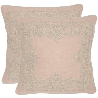 Safavieh Florentine Petal 20-inch Square Throw Pillows (Set of 2)