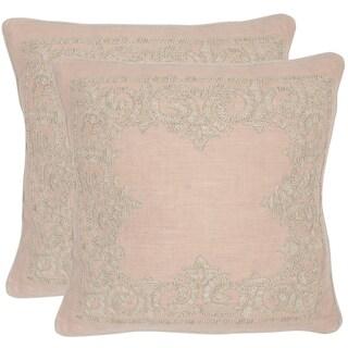 Safavieh Florentine Petal 20-inch Square Throw Pillows (Set of 2)